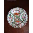 Большая винтажная китайская  декоративная тарелка ручной росписи