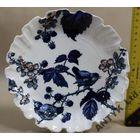 Тарелка Англия 19 век антик кобальт