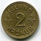 ИСЛАНДИЯ - 2 КРОНЫ 1940 !!!