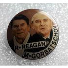 Значок. Р. Рейган, М. Горбачев #0056