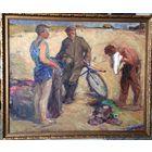 Картина старая 1961 г Свентаховский П.В