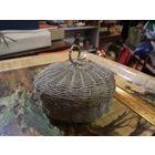 Шкатулка-плетенка мельхиоровая