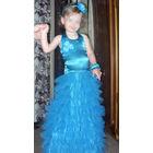 Распродажа!!! Праздничное детское платье Морская волна 118-125