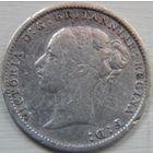5. Великобритания 3 пенса 1885 год, серебро
