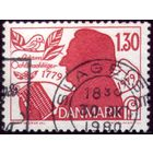1 марка 1979 год Дания Готлиб