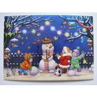 Современная открытка, Белоголовская Гета, Веселый снеговик, чистая (Новый год, дети).