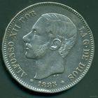 Испания. Альфонсо XII. 5 Песет 1887. / 1