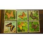 Бабочки, насекомые, марки, фауна, флора, цветы, Куба, 1982