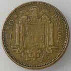 Испания, 2,5 песеты/ 2 1/2 песеты/ pesetas 1953 (56) - год чеканки указан на звездах возле номинала, KM#785