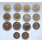 Монеты иностранные биметалл 14 штук