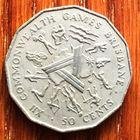 """Австралия, 50 центов 1982, юбилейная """"XII Игры Содружества"""""""