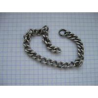 Часть цепи  на браслет серебро