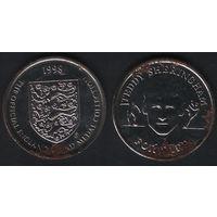 Official England Squad. Forward. Teddy Sheringham -- 1998 - The Official England Squad Medal Collection (f01)