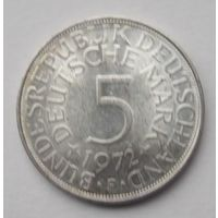 Германия 5 марок 1972F серебро