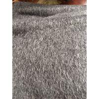 Отрез ткани на пальто Шерсть с ворсом Австрия темно-серая меланж ширина 160 см х длинна 270 см