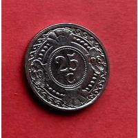 06-27 Антильские острова, 25 центов 1998 г.  Единственное предложение монеты данного года на АУ