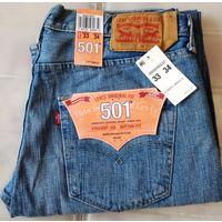 Джинсы LEVI'S 501 из США size 33/34 Новые!