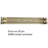 Сдвоенный разъём под планки памяти SIMM-30pin, подходит как переходник SIPP-30 --> SIMM-30 для некоторых ретро-плат AT-286, AT-386SX. (2шт =3р)