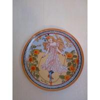 """Коллекционная тарелка из серии """"Дети мира"""", фарфор Heinrich, Германия, художник Луи Пэйн. 19,5 см."""