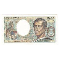 Франция 200 франков 1989 года. Тип P 155c. Подпись D. Ferman, B. Dentaud and A. Charriau. Редкая! Состояние XF+!