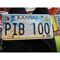 Автомобильный номер США штат Канзас (100!)