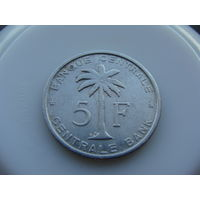 """Бельгийское Конго. """"Руанда-Урунди""""  5 франков 1958 год KM#3"""