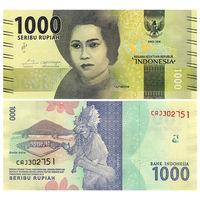 Индонезия. 1000 рупий 2016 г. UNC