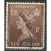 Новая Зеландия. Королева Елизавета II. 1953г. Mi#323.