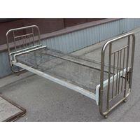 Кровать с панцирной сеткой, металлическая, СССР, 50-60 годы