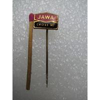 "Знак ЧССР. Мотоцикл ""JAWA. Cross-90"" / ""Ява. Кросс-90"". латунь, булавка"