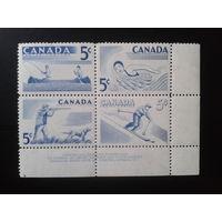 Канада 1957 Спорт** квартблок