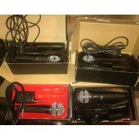 Микрофон беспроводной Denn dwm 100, 4шт, ремонт-на з.ч ; 40 руб
