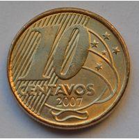 Бразилия 10 сентаво, 2007 г.