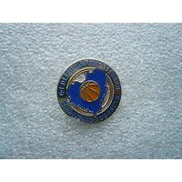 Знак лацканный. Федерация баскетбола Самарской области. Самара. Нейзильбер цанга.