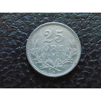 Швеция 25 эре 1936 год. Серебро.