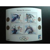 Норвегия 1991 Олимпиада блок