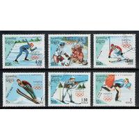 Кампучия /1988/ Спорт / Зимние Олимпийские игры Калгари -88 / Хоккей / 6 Марок