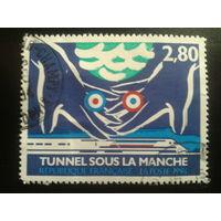 Франция 1994 поезд, туннель под Ла-Маншем