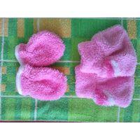 Царапки и пинетки для новорожденной малышки