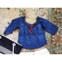 Блуза джинсовая 44 блузка