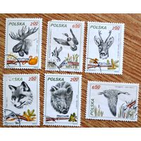 Животные    6 марок, Польша