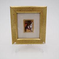 Винтажная миниатюра 2 Италия ORO FOGLIA - хромолитография, стекло, золото, 12 х 11 см