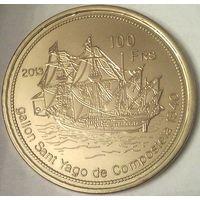 Остров ЖУАН-ди-НОВА 100 франков 2013 год (оригинал)