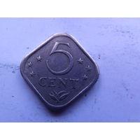 Нидерланд. Антиллы 5 центов 1979г  редкая  распродажа
