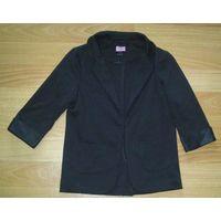 Пиджак черный трикотажный