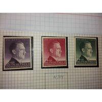 Германия Генерал губернаторство 1943 День рождения фюрера. Полная серия 3 чистые марки