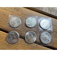 25 рублей 2014 год Сочи. Комплект монеты в блистерах.