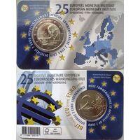 Бельгия, 2 евро 2019 25 лет Европейскому валютному институту, 2-й вариант оформления блистера