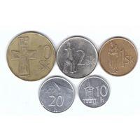 Словакия набор 5 монет