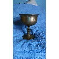 Большая латунная чаша с гравировкой. Без МЦ, с 1 рубля! См.описание.